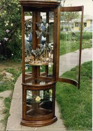 Kitchen Corner Cabinet Plans Curio Cabinet Staggering Wooden Curio Cabinets Photos