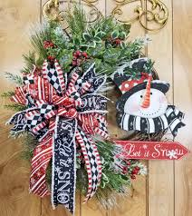 Grapevine Snowman For Outdoors by Let It Snow Grapevine Wreath Whimsical Snowman Top Hat Triple