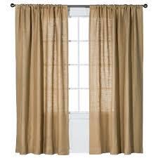Brown Burlap Curtains Burlap Curtain Panel Nate Berkus Target