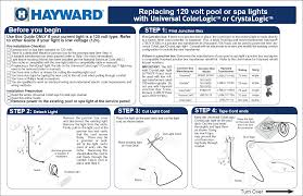 hayward sp0527sled30 120v colorlogic 4 0 led pool light 30 u0027 cord