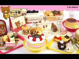 re ment collection san x rilakkuma cake shop youtube