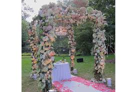 wedding arbors four designers floral wedding arbor decorating tips oasis
