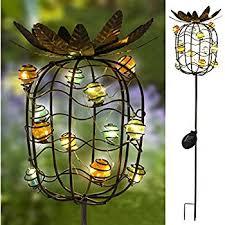 Solar Stake Garden Lights - takeme garden solar lights outdoor solar powered stake lights
