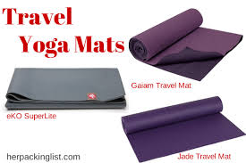 travel yoga mat images Traveling with travel yoga mats her packing list png