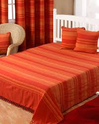 cotton morocco striped terracotta throw homescapes
