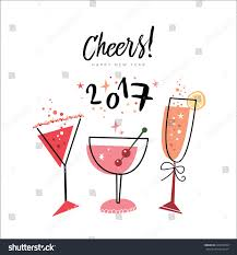 martini glasses cheers cheers happy new year 2017 stock vector 435470509 shutterstock