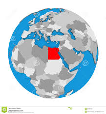 Egypt On World Map Egypt On Globe Stock Illustration Image 83797021