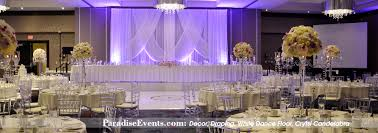 Vancouver DJ booth Lighting Decor Flowers