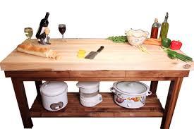 walnut kitchen island maple edge grain top mcclure tables