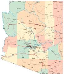 Colorado City Map Detailed Road Map Of Arizona With Cities Arizona Detailed Road