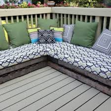 How To Make Bench Cushions Easy Nice Deck With Patio Bench Cushions Patio Design Ideas 1263