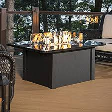 napa valley crystal fire pit table amazon com outdoor great room grandstone crystal fire pit table