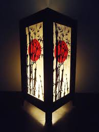 Crinkle Paper Floor Lamp by Asian Oriental Japanese Sunset Bedside Floor Or Table Lamp Shades