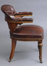 product victorian oak desk chair