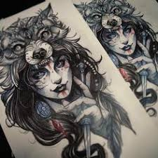 wolf headpiece tattoos google search tattoo ideas pinterest