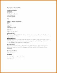 letter of resignation template microsoft business sample