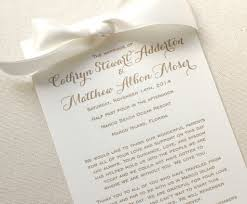 where to get wedding programs printed printed wedding programs