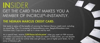neiman store credit card incircle points store credit cards