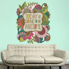 wall murals stencils stickers kids art room floral quote art wall sticker decal today going awesome valentina harper