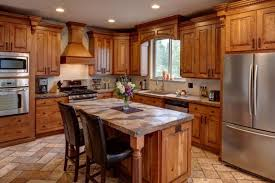 Black Rustic Kitchen Cabinets Rustic Kitchen Cabinet Designs Gray Countertop Beige Marble Wall