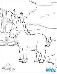 donkey in the forest coloring pages hellokids com