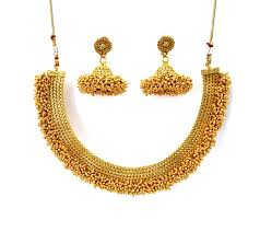 gold jewelry necklace sets images Indian jewelry necklace set in high gold plated indianjewelr JPG