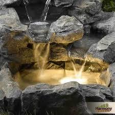 water fountain outdoor garden indoor decor lights light backyard