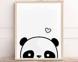 panda wall art etsy