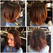 red copper balayage short hair made by maria kapsalonhaarvisie