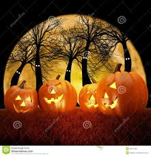 dark halloween background halloween background scene with full moon pumpkins and dark