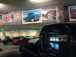 wall mural five hundred feet of classic car imagery commerce color gateway wall mural pickups