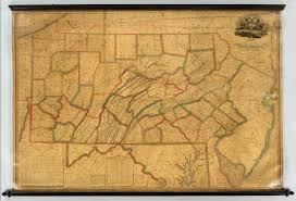 Maps Of Pennsylvania by Map Of Pennsylvania David Rumsey Historical Map Collection