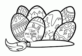 easter eggs patterns coloring page for kids coloring pages