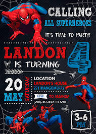spiderman party invitations