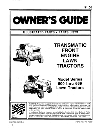 mtd lawn mower 600 669 user guide manualsonline com