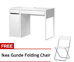 ikea micke desk cabinet with free gunde chairv white lazada ph