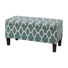 Storage Ottoman Upholstered Homepop Upholstered Decorative Storage Ottoman Teal