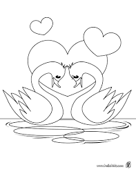 awesome printable bird swans coloring pages for kids colorpages7 com