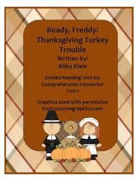 ready freddy thanksgiving turkey trouble novel study tpt