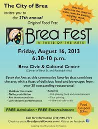 27th annual brea fest