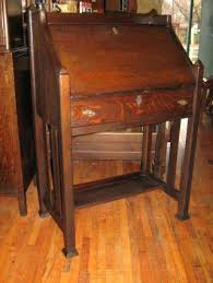 Small Drop Front Desk Oak Desk Tiger Interque Co