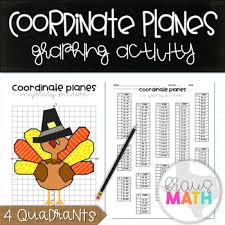 thanksgiving turkey coordinate plane graphing activity all 4