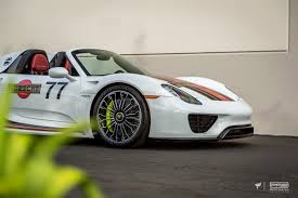 porsche 918 exterior porsche 918 spyder martini with an orange twist protective film
