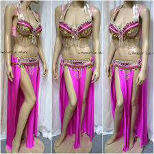 pink alomomola gypsy belly dancer rave bra cosplay halloween