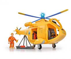 sam helicopter wallaby ii figurine fireman sam playsets