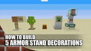How To Make Decorations In Minecraft 5 More Armor Stand Builds Decorations In Minecraft Youtube