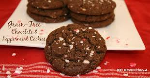 grain free chocolate and peppermint cookie recipe