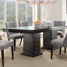 homelegance chicago 7 piece pedestal dining room set in deep