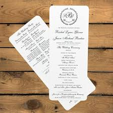 wedding programs sles awesome wedding reception program wording photos styles ideas