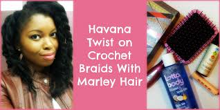 detangling marley hair havana twist on crochet braids using marley hair